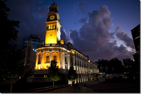 Auckland Town Hall by Night
