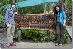 Naoko and I at the Tarsier Conservation Area