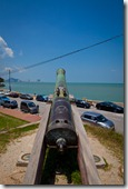 Cannon overlooks the Bay